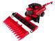 Case IH 7250 Axial-Flow Combine Folding Auger 12-Row Corn Head Draper Grain Head Case IH Agriculture 1/64 Diecast Model ERTL TOMY 44166