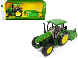 John Deere 5125R Tractor MX7 Rotary Cutter 1/16 Diecast Model ERTL TOMY 45652