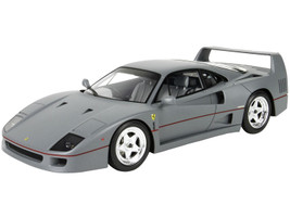 Ferrari F40 Sultan of Brunei Gun Metal Gray Red Stripes DISPLAY CASE Limited Edition 200 pieces Worldwide 1/18 Model Car BBR P18167