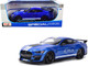 2020 Ford Mustang Shelby GT500 Blue Metallic White Stripes Special Edition 1/18 Diecast Model Car Maisto 31388