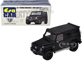 Mercedes Benz AMG G63 LB Works Wagon Matt Black Carbon Hood 1/64 Diecast Model Car Era Car MB204X4SP28