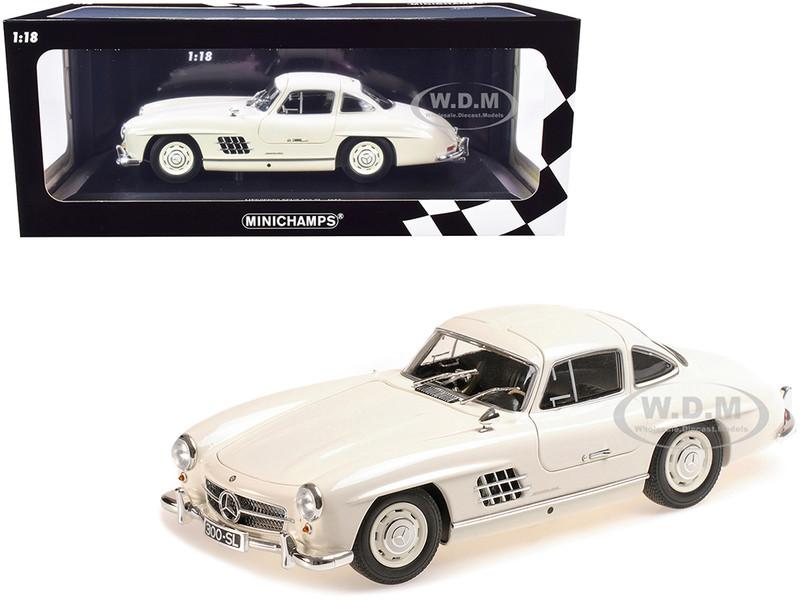 1955 Mercedes Benz 300 SL W198 White Limited Edition 300 pieces Worldwide 1/18 Diecast Model Car Minichamps 110037217
