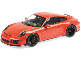 2016 Porsche 911 R Lava Orange Black Wheels 1/12 Diecast Model Car Minichamps 125066324