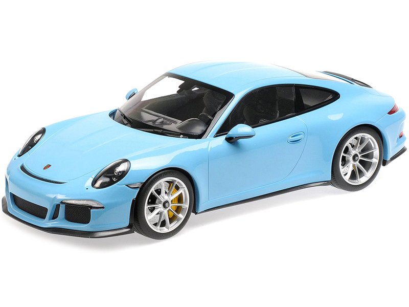 2016 Porsche 911 R Gulf Blue Silver Wheels 1/12 Diecast Model Car Minichamps 125066325