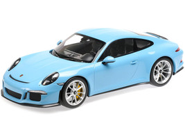 2016 Porsche 911 R Gulf Blue Silver Wheels 1/12 Diecast Model Car Minichamps 125066325