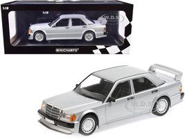 1989 Mercedes Benz 190E 2.5-16 EVO 1 Silver Metallic Limited Edition 804 pieces Worldwide 1/18 Diecast Model Car Minichamps 155036001