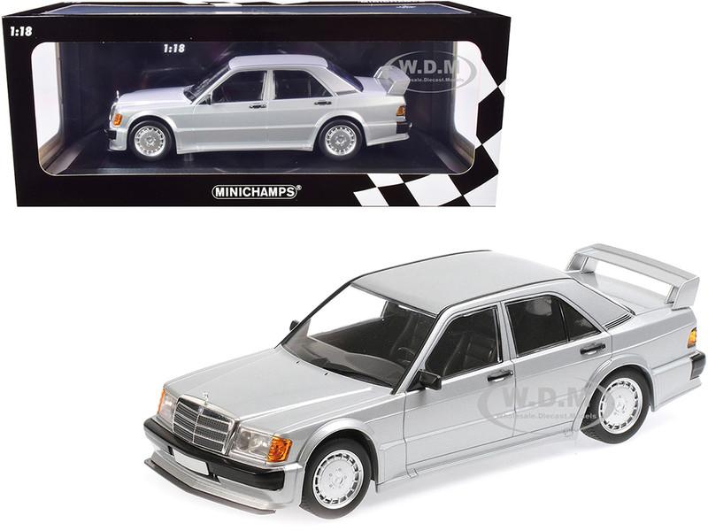 1989 Mercedes Benz 190E 2.5-16 EVO 1 Silver Metallic Limited Edition 804 pieces Worldwide 1/18 Diecast Model Car Minichamps 155036001