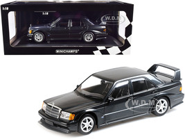 1990 Mercedes Benz 190E 2.5-16 EVO 2 Blue-Black Metallic Limited Edition 1002 pieces Worldwide 1/18 Diecast Model Car Minichamps 155036100
