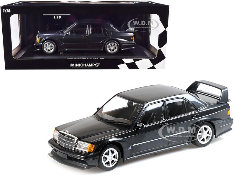 1990 Mercedes Benz 190E 2.5-16 EVO 2 Blue-Black Metallic Limited Edition 1002 pieces Worldwide 1/18 Diecast Model Car Minichamps 155036100