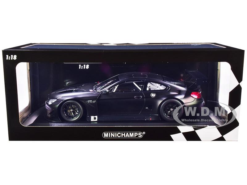 2016 BMW M6 GT3 Plain Body Version Matt Black Limited Edition 224 pieces Worldwide 1/18 Diecast Model Car Minichamps 155162610