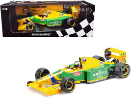 Benetton Ford B193B #5 Michael Schumacher 1st Home Podium German GP Formula One F1 1993 1/18 Diecast Model Car Minichamps 510932805