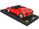 Ferrari F8 Tributo Spider Convertible Rosso Corsa Red Limited Edition 258 pieces Worldwide 1/18 Model Car BBR P18183B
