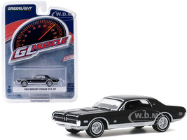 1968 Mercury Cougar GT-E 427 Onyx Black Greenlight Muscle Series 23 1/64 Diecast Model Car Greenlight 13270 B