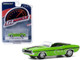 1970 Dodge Challenger R/T HEMI Convertible Sublime Green Black Stripes Greenlight Muscle Series 23 1/64 Diecast Model Car Greenlight 13270 D