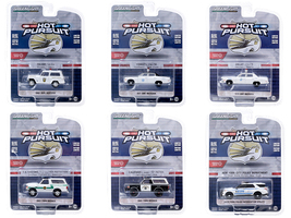 Hot Pursuit Set of 6 Police Cars Series 35 1/64 Diecast Model Cars Greenlight 42920