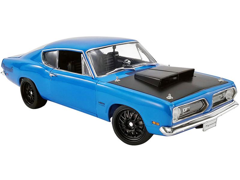 1969 Plymouth Hemi Barracuda Street Fighter Petty Blue Black Hood Limited Edition 930 pieces Worldwide 1/18 Diecast Model Car ACME A1806117