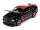 2012 Ford Mustang Boss 302 Laguna Seca Black Red Red Wheels Modern Muscle Limited Edition 10312 pieces Worldwide 1/64 Diecast Model Car Autoworld 64262 AWSP046 A