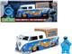 1962 Volkswagen Pickup Bus Cookie Monster Diecast Figurine Sound Sesame Street TV Series 1/24 Diecast Model Car Jada 31751