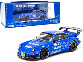 Porsche RWB 930 Wally's Jeans Blue RAUH-Welt BEGRIFF 1/64 Diecast Model Car Tarmac Works T64-015-WJ