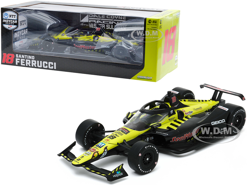 Dallara IndyCar #18 Santino Ferrucci SealMaster Dale Coyne Racing with Vasser Sullivan NTT IndyCar Series 2020 1/18 Diecast Model Car Greenlight 11078