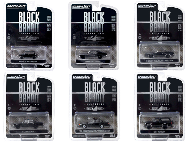 Black Bandit 6 piece Set Series 23 1/64 Diecast Model Cars Greenlight 28030