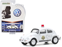 1964 Volkswagen Beetle Police Car White Scottsboro Police Department Scottsboro Alabama Club Vee V-Dub Series 11 1/64 Diecast Model Car Greenlight 30000 A