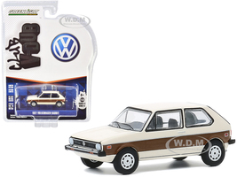 1977 Volkswagen Rabbit Cream Woody Graphics Club Vee V-Dub Series 11 1/64 Diecast Model Car Greenlight 30000 E