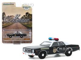 1977 Dodge Monaco Black White Top Hatchapee County Sheriff Hobby Exclusive 1/64 Diecast Model Car Greenlight 30152