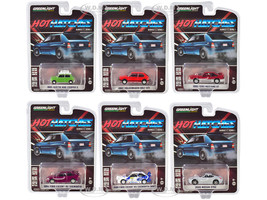 Hot Hatches Set of 6 pieces Series 1 1/64 Diecast Model Cars Greenlight 47080