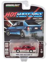 1988 Ford Mustang GT Medium Scarlet Red Silver Hot Hatches Series 1 1/64 Diecast Model Car Greenlight 47080 C