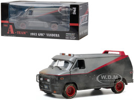 1983 GMC Vandura Van Weathered Version Bullet Holes The A-Team 1983 1987 TV Series 1/24 Diecast Model Greenlight 84112