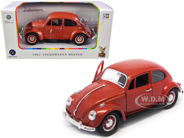 1967 Volkswagen Beetle Copper Metallic 1/24 Diecast Model Car Road Signature 24202