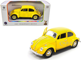 1967 Volkswagen Beetle Yellow 1/24 Diecast Model Car Road Signature 24202