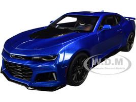 Chevrolet Camaro ZL1 Hyper Blue Metallic 1/18 Model Car Autoart 71209