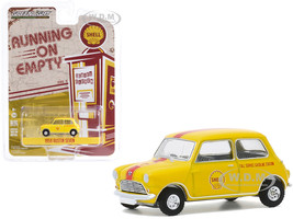 1959 Austin Seven Shell Oil Yellow Red Stripe Running on Empty Series 11 1/64 Diecast Model Car Greenlight 41110 A