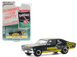 1972 Chevrolet Nova Black Yellow Bardahl Running on Empty Series 11 1/64 Diecast Model Car Greenlight 41110 D