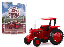 1987 Ford 5610 Tractor Red Kansas Department of Transportation DOT Down on the Farm Series 4 1/64 Diecast Model Greenlight 48040 E