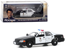 2008 Ford Crown Victoria Police Interceptor White Black LAPD Los Angeles Police Department The Rookie 2018 TV Series 1/43 Diecast Model Car Greenlight 86586