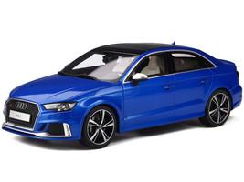 Audi RS3 Sedan Ara Blue Metallic Limited Edition 999 pieces Worldwide 1/18 Model Car GT Spirit GT275