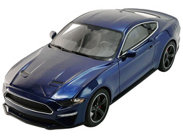 2019 Ford Mustang Bullitt Kona Blue 1/18 Model Car GT Spirit ACME US017 C