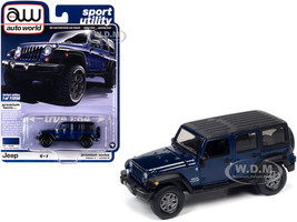 2018 Jeep Wrangler JK Unlimited Sport 4-Door Xtreme Purple Metallic Black Top Sport Utility Limited Edition 11056 pieces Worldwide 1/64 Diecast Model Car Autoworld 64262 AWSP042 B