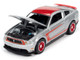 2012 Ford Mustang Boss 302 Laguna Seca Ingot Silver Metallic Red Red Wheels Modern Muscle Limited Edition 13312 pieces Worldwide 1/64 Diecast Model Car Autoworld 64262 AWSP046 B