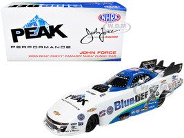 2020 Peak Chevrolet Camaro #4 John Force BlueDEF NHRA Funny Car John Force Racing 1/24 Diecast Model Car Autoworld CP7681