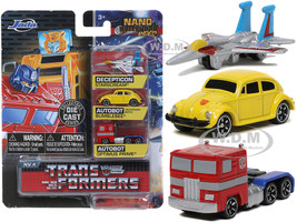 Transformers 3 piece Set Release 2 Nano Hollywood Rides Diecast Models Jada 31761