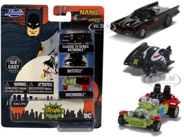 Batman 1966 1968 Classic TV Series 3 piece Set Nano Hollywood Rides Diecast Models Jada 31988