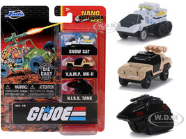 G.I. Joe 3 piece Set Nano Hollywood Rides Diecast Models Jada 32083