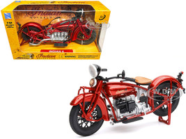 1930 Indian 4 Red 1/12 Diecast Motorcycle Model New Ray 58223
