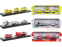 Auto Haulers Coca Cola Mello Yello Set of 3 pieces Limited Edition 5250 pieces Worldwide 1/64 Diecast Models M2 Machines 56000-TW05