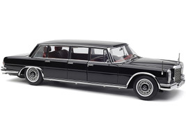 1963 1981 Mercedes Benz 600 Pullman W100 Limousine Black Red Interior 1/18 Diecast Model Car CMC 200