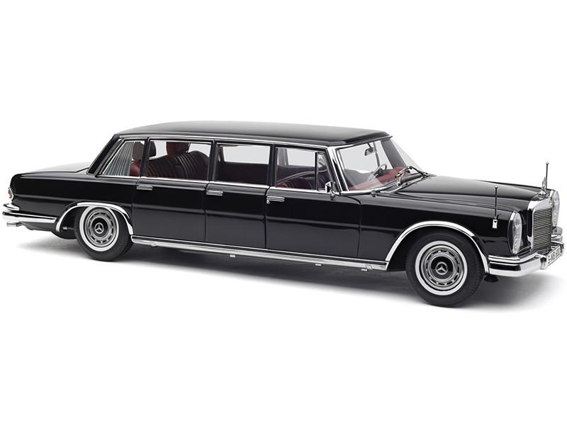 1963 1981 Mercedes Benz 600 Pullman W100 Limousine Black Red Interior 1/18 Diecast Model Car CMC 200